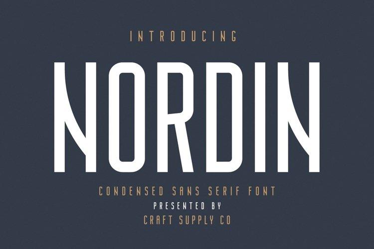 Nordin - Condensed Sans Serif Font example image 1