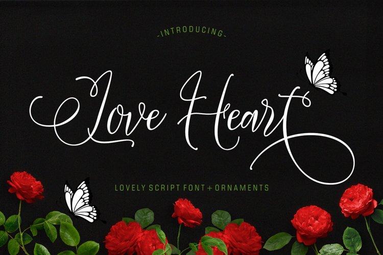 Love Heart Plus Ornament example image 1