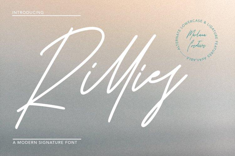 Rillies Modern Signature Font example image 1