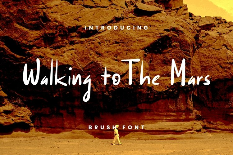 Web Font Walking To The Mars Font example image 1