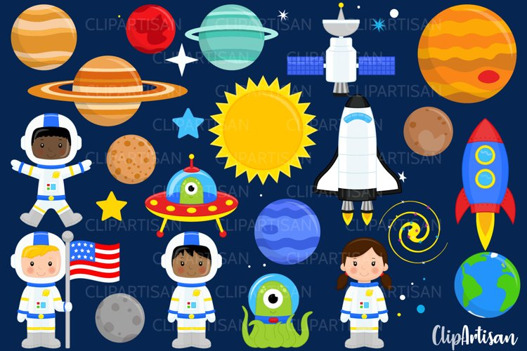 Astronauts in Space Clip Art