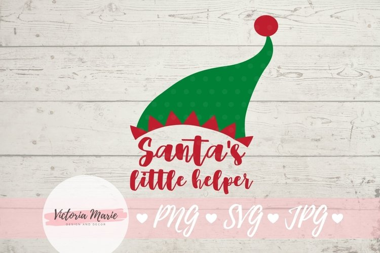 Santas Little Helper svg, Elf Hat svg, Christmas Ornament