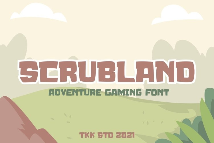 SCRUBLAND - Adventure Gaming Font example image 1