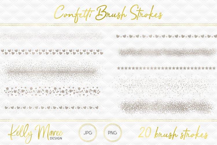 Silver Confetti Brush Strokes