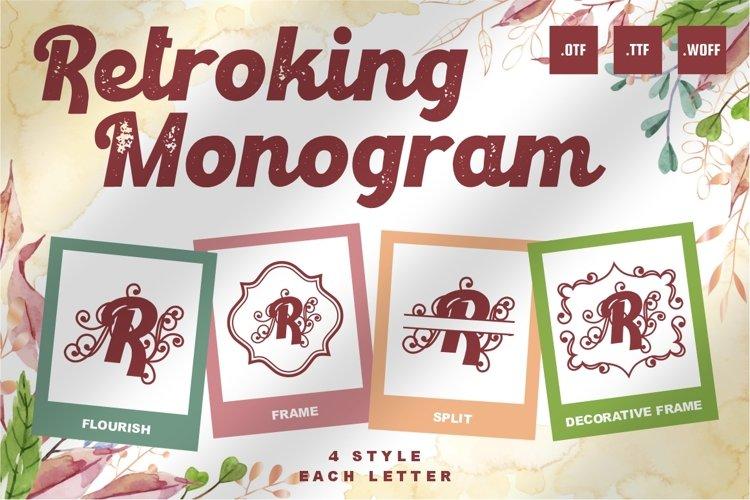 Retroking Monogram Font - 4 Style Monogram example image 1