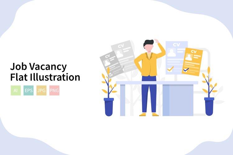 Get Job Vacancy Vector Background