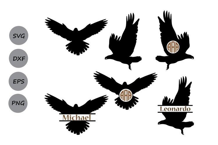 Eagle SVG, eagle monogram frames svg, eagle silhouette.