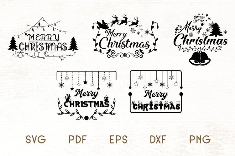 Christmas SVG - Merry Christmas SVG - Christmas Frames example image 1