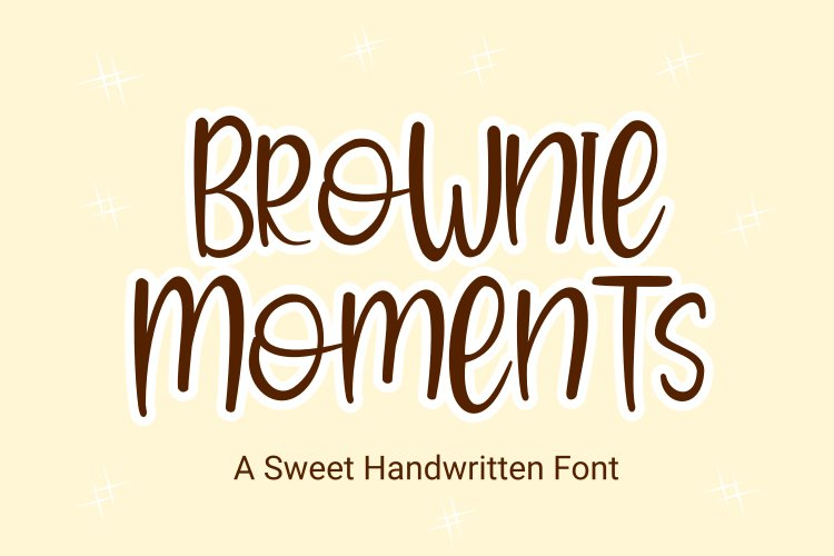 Brownie Moments - Handwritten Font example image 1