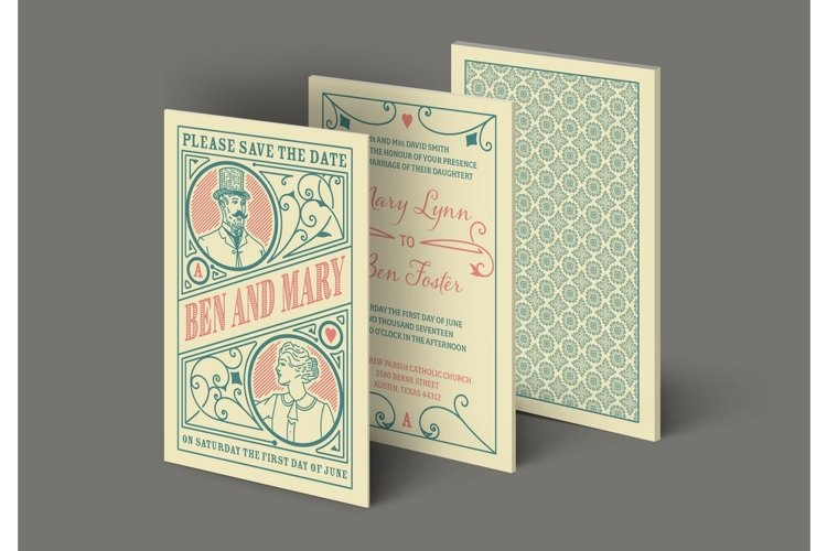 Wedding invitation with 3 artboards example image 1