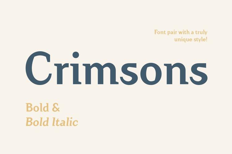 Crimsons — Bold & Bold Italic example image 1