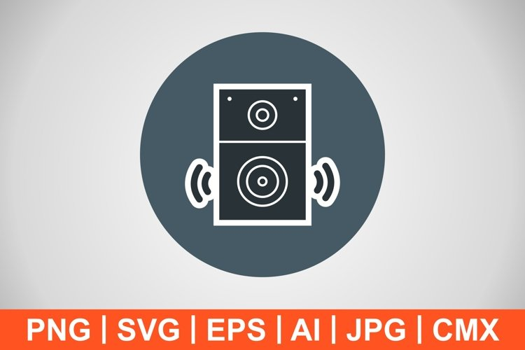 Vector Speaker Icon example image 1