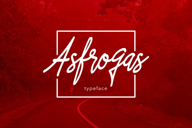 Asfrogas Typeface example image 1