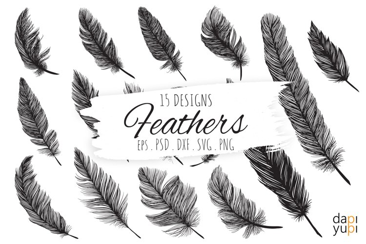 Feather SVG, Boho Feathers, Feathers Bundle SVG Cut files
