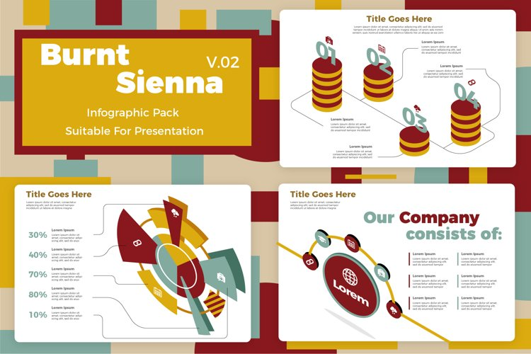 Burnt Sienna v2 - Infographic example image 1