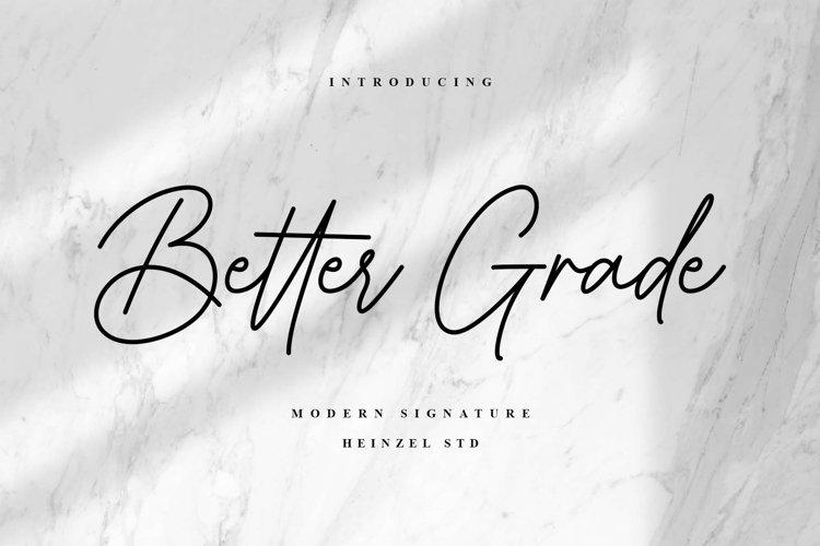 Better Grade / Script Font