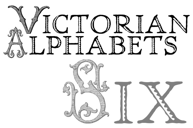 Victorian Alphabets Six example image 1