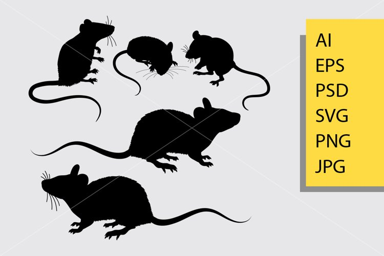 Mouse animal silhouette example image 1