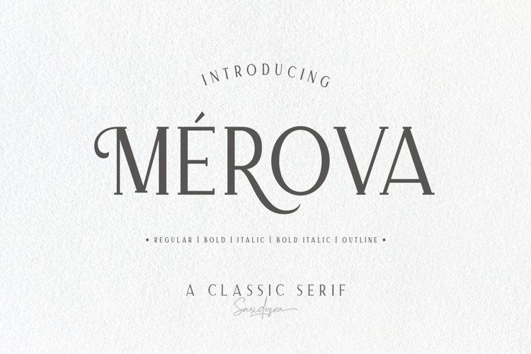 Merova - Classic Serif example image 1
