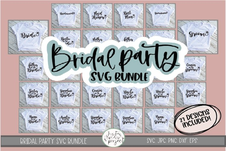 Bridal Party svg, Wedding SVG Bundle, Bridal Party Bundle example image 1