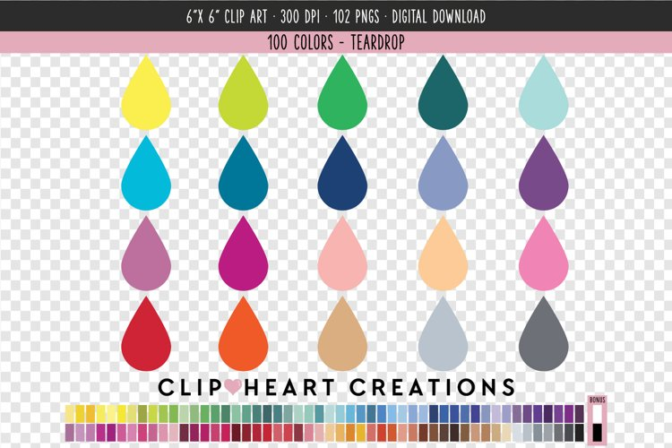 Teardrop Clip Art - 100 Clip Art Graphics example image 1
