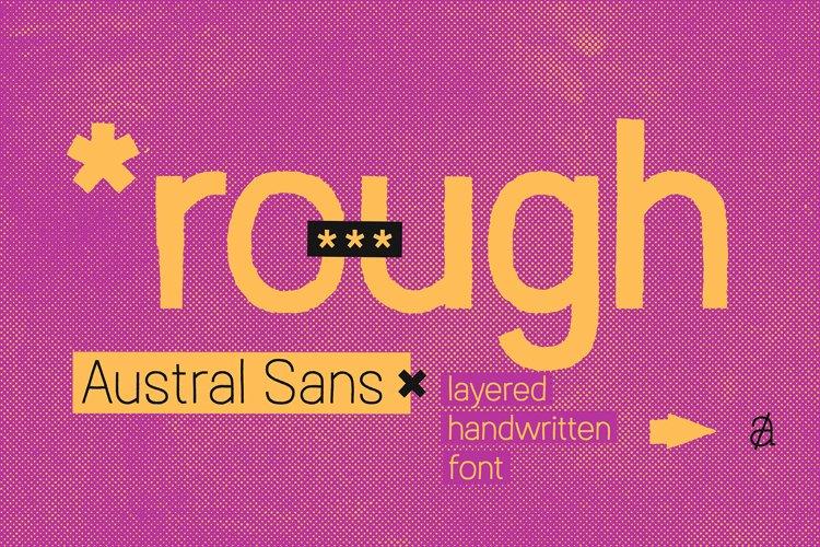 Austral Sans Rough example image 1