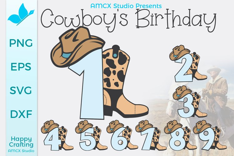 Cowboy Numbers 1 - 9 Bundle