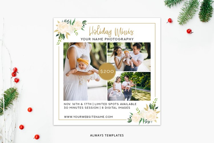 Holiday Minis Template PM007 example image 1