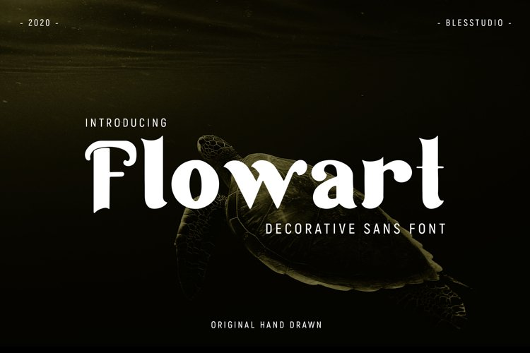 Flowart - Personal Decorative Font example image 1