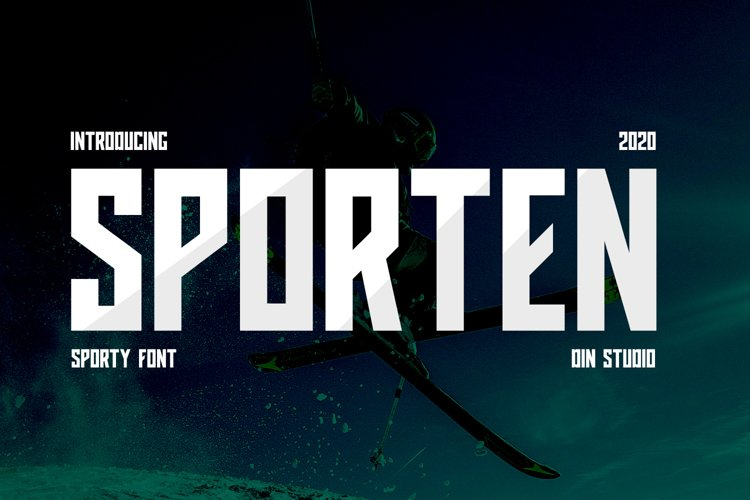 Sporten-Classic Sport Font example image 1