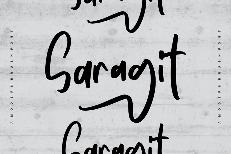 Saragit   A Modern Brush Font example image 1