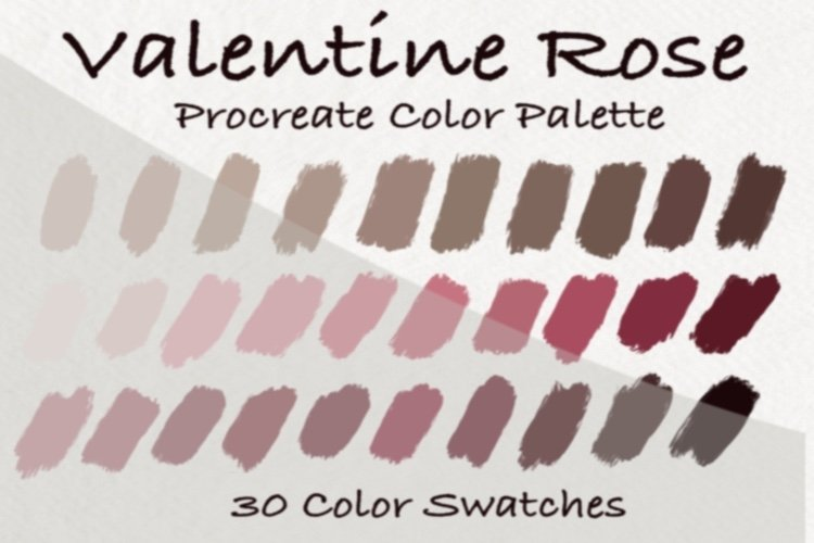Valentine Rose Color Palettes,Rose Gold Color example image 1
