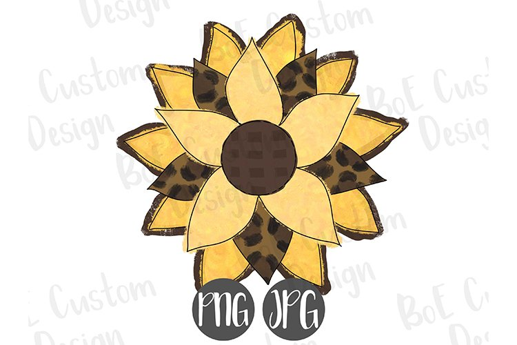 Yellow & Leopard Flower Clipart