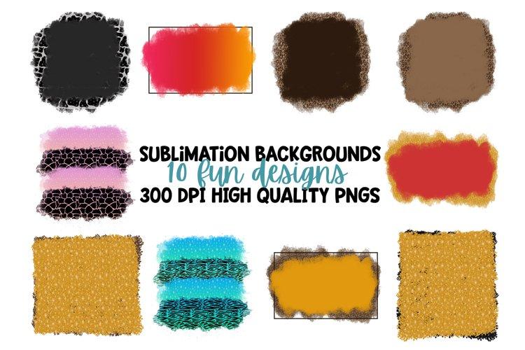 10 Unique Sublimation Background PNG FIles
