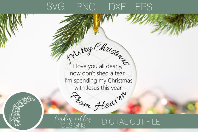 Christmas In Heaven Memorial SVG|Christmas Memorial SVG example image 1