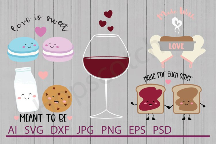Valentine's Day SVG Bundle, DXF File, Cuttable File example image 1
