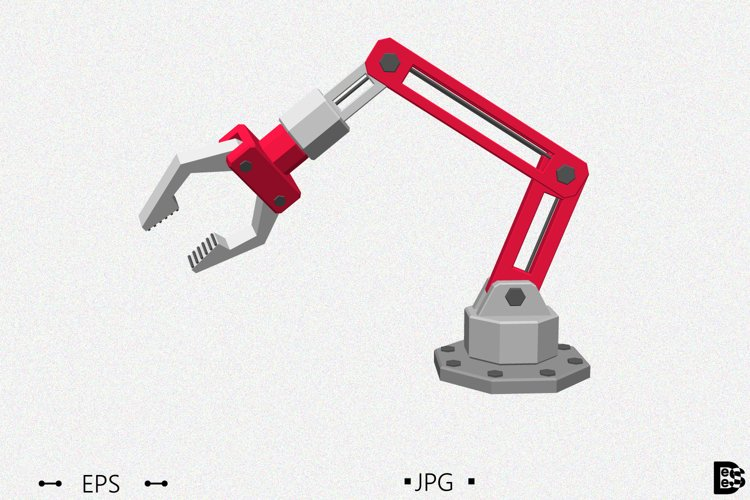 Robotic arm. 3d Vector illustration. example image 1