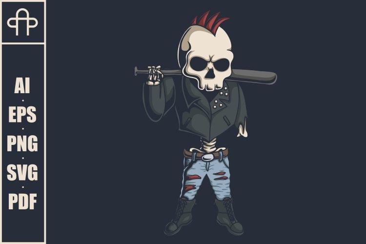 Punk skull illustration example image 1