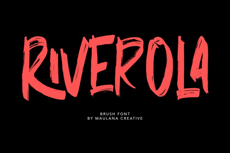 Riverola Brush Font example image 1