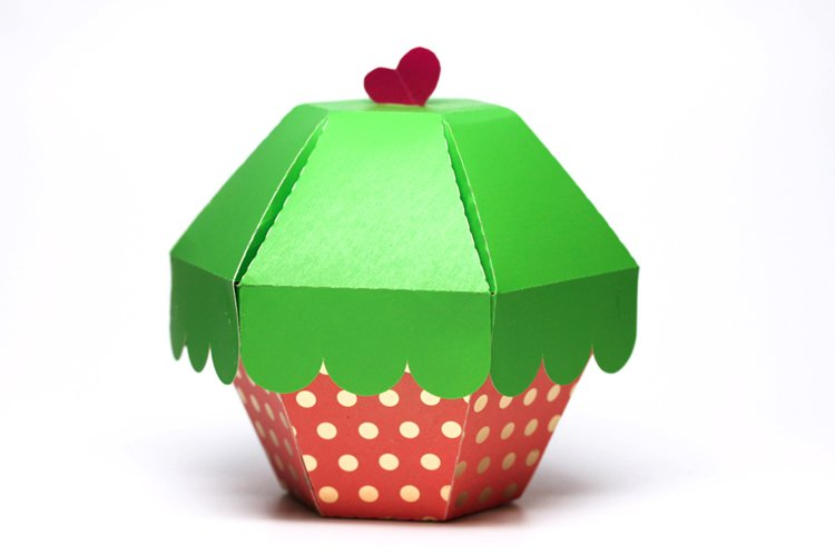 SVG DIY Cupcake Gift Box, Cutting File, Templates for Cricut