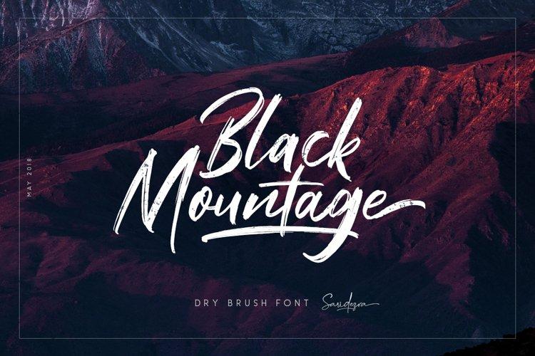 Black Mountage - Brush Font example image 1