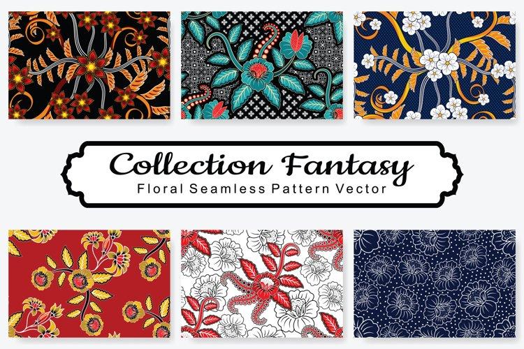 Set Of Fantasy Floral Vector Pattern Vol.4 example image 1