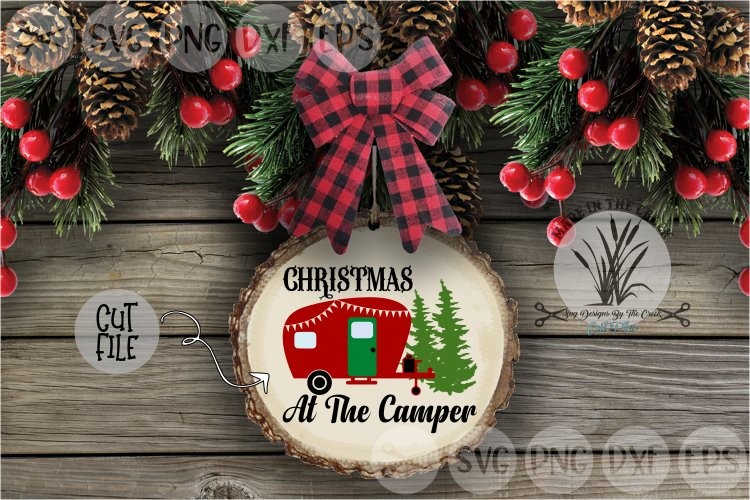Christmas At The Camper, Evergreen Trees, Cut File, SVG example image 1