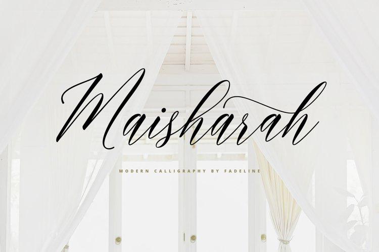 Maisharah Modern Calligraphy example image 1