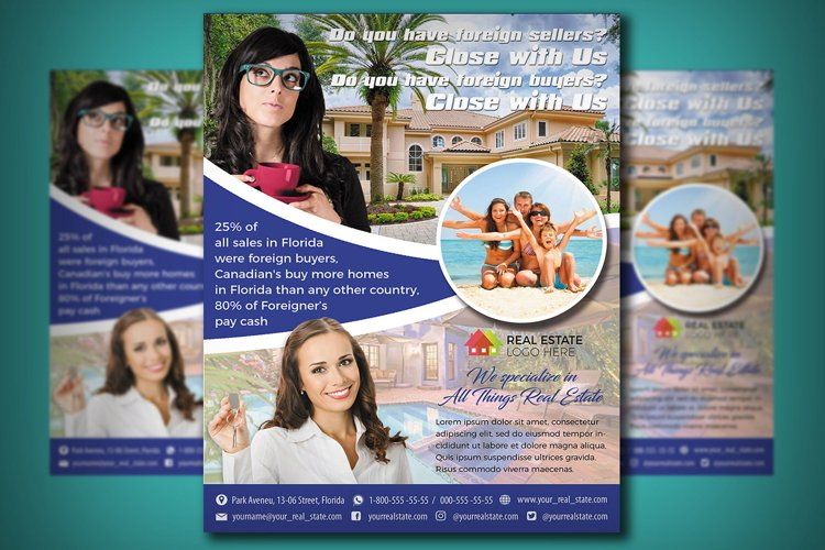 REAL ESTATE FLYER TEMPLATE | Bussiness Flyer | Broker | RE example image 1