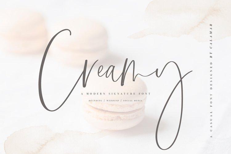 Creamy   Handwritten Font example image 1