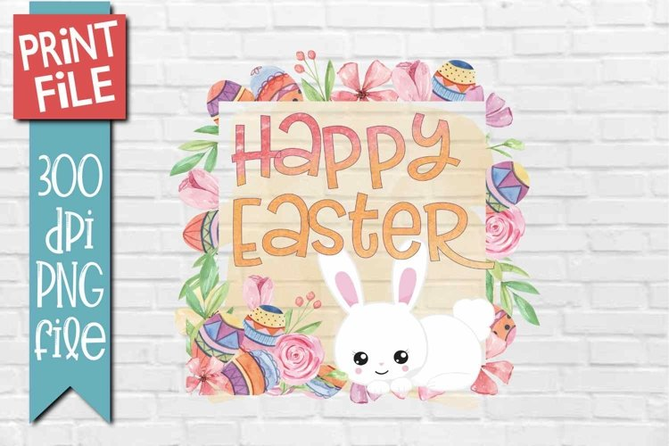 Easter Quote Sublimation Design example image 1