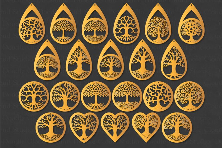 Earrings SVG, Tree of Life Earring SVG, Pendant SVG, Jewelry
