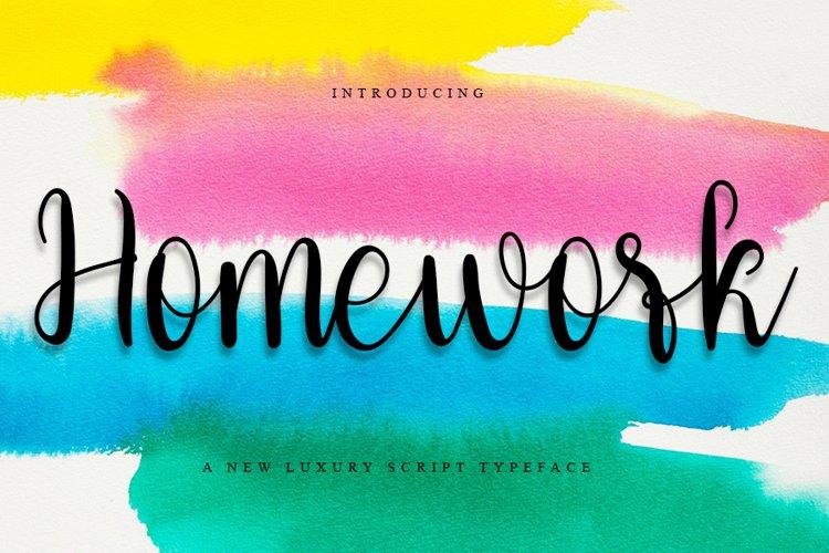 Homework - Beauty Calligraphy Font example image 1