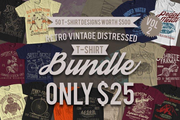 50 Retro Vintage T-Shirt Designs VOL 2